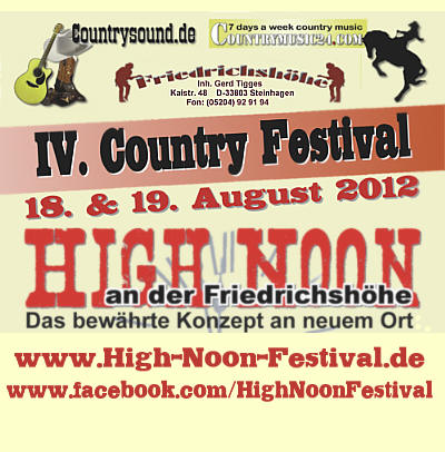 High Noon Country Festival am Kulturbahnhof B3 in Borgholzhausen, Germany