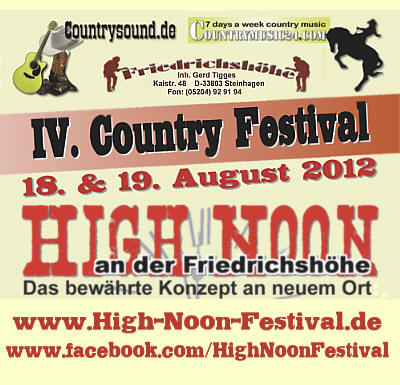 High Noon Country Festival am Kulturbahnhof B3 in Borgholzhausen / NRW - John Boy Walton - Orange Blossum Special - Nashfield - The Flyin Turtles - Steve Haggerty & The Wanted